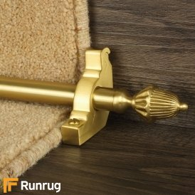 Eastern Promise Satin Brass Dubai Plain Stair Rod