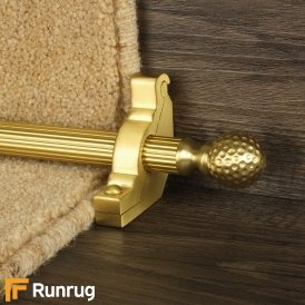 Eastern Promise Satin Brass Dune Reeded Stair Rod