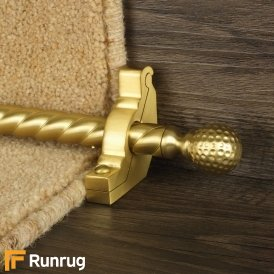 Eastern Promise Satin Brass Dune Spiral Stair Rod