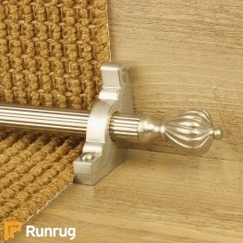 Eastern Promise Satin Nickel Cairo Reeded Stair Rod