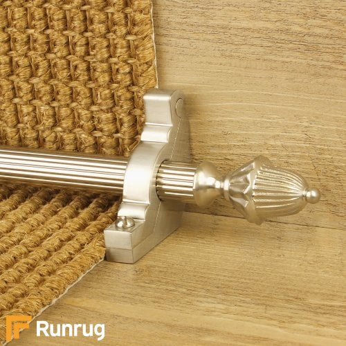 Eastern Promise Satin Nickel Dubai Reeded Stair Rod