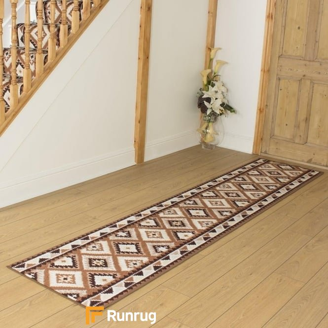 Ethnic Brown Hall Runner