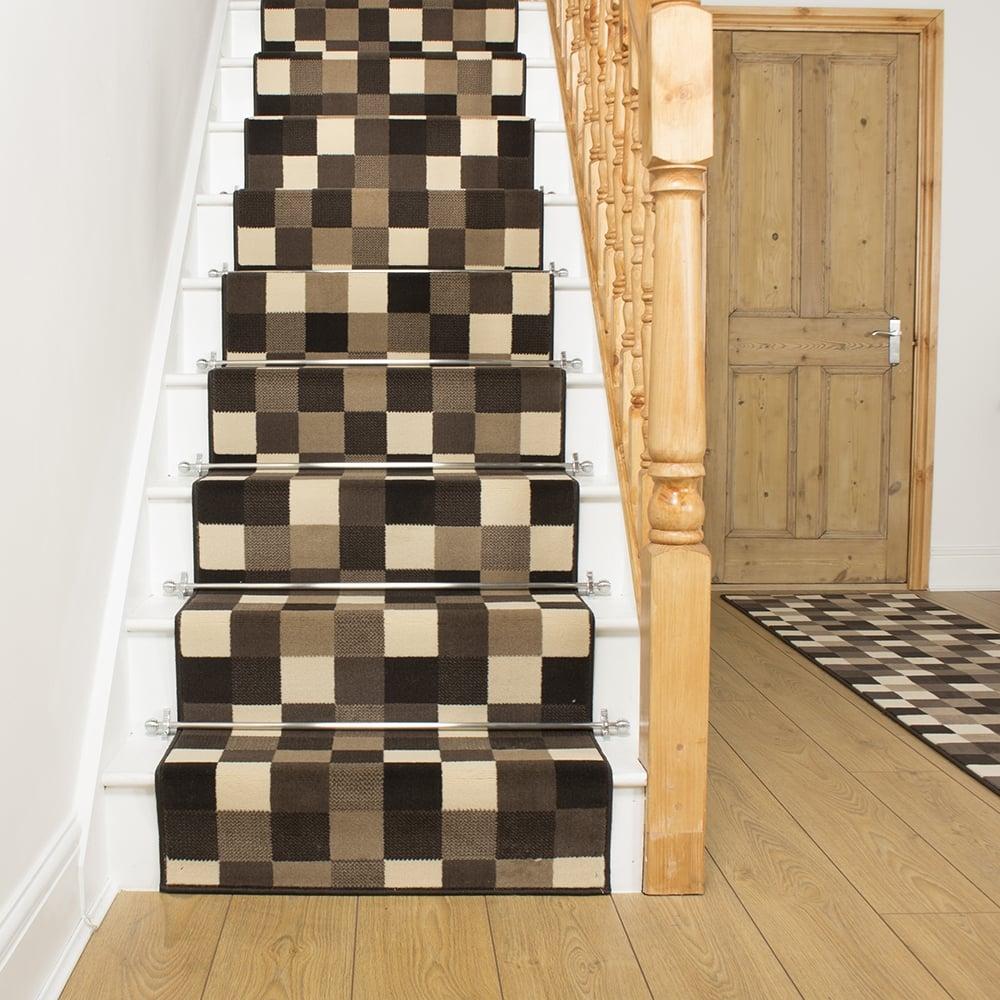 Brown Stair Runner Rug Gridlock - Gridlock floor tiles