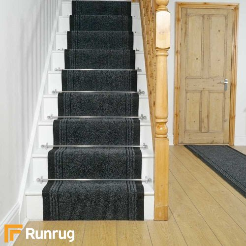 Inca Black Stair Runner