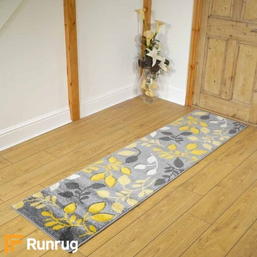 Portland Scroll Yellow/Gray Rug Runners