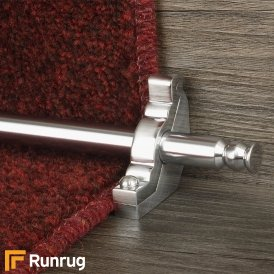 Premier Brushed Chrome Balmoral Plain Stair Rod