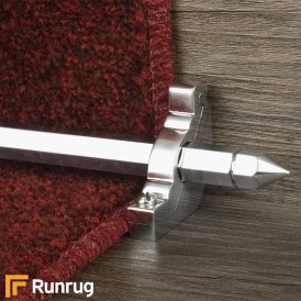 Premier Brushed Chrome Hanover Plain Stair Rod