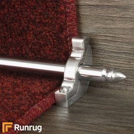 Premier Brushed Chrome Lancaster Plain Stair Rod
