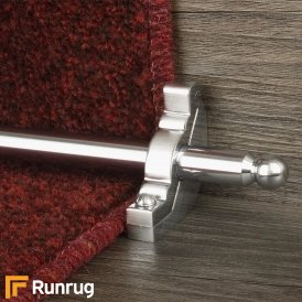 Premier Brushed Chrome Windsor Plain Stair Rod