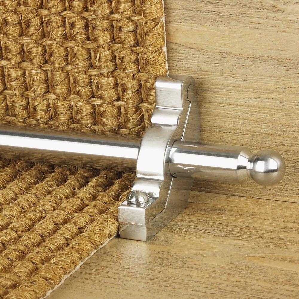 Beau Premier Brushed Chrome Windsor Plain Stair Rod
