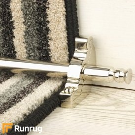 Premier Polished Nickel Balmoral Plain Stair Rod