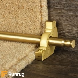 Premier Satin Brass Balmoral Plain Stair Rod