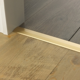 Premier Trim Two-Way Ramp 2-3mm & 4-5mm Satin Brass