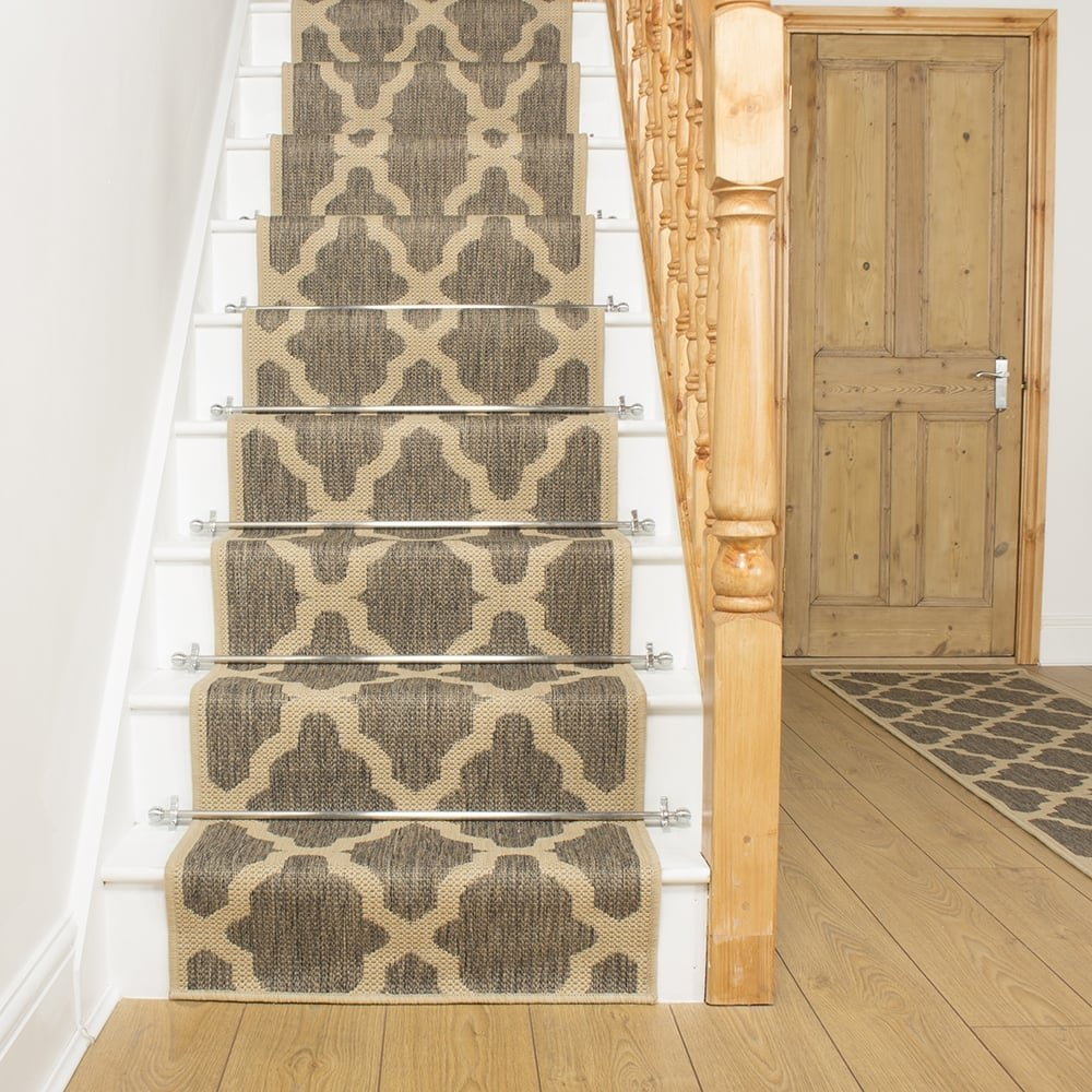 Superbe Tweed Stair Runner Rug Quatrefoil   Free Delivery Plus A U0027No Quibbleu0027 30  Day Returns Policy