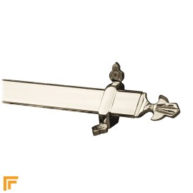 Royal Polished Nickel Louis Stair Rod