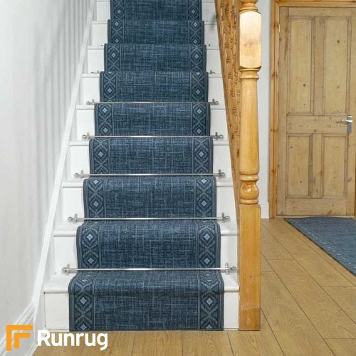 Sarah Blue Stair Runners