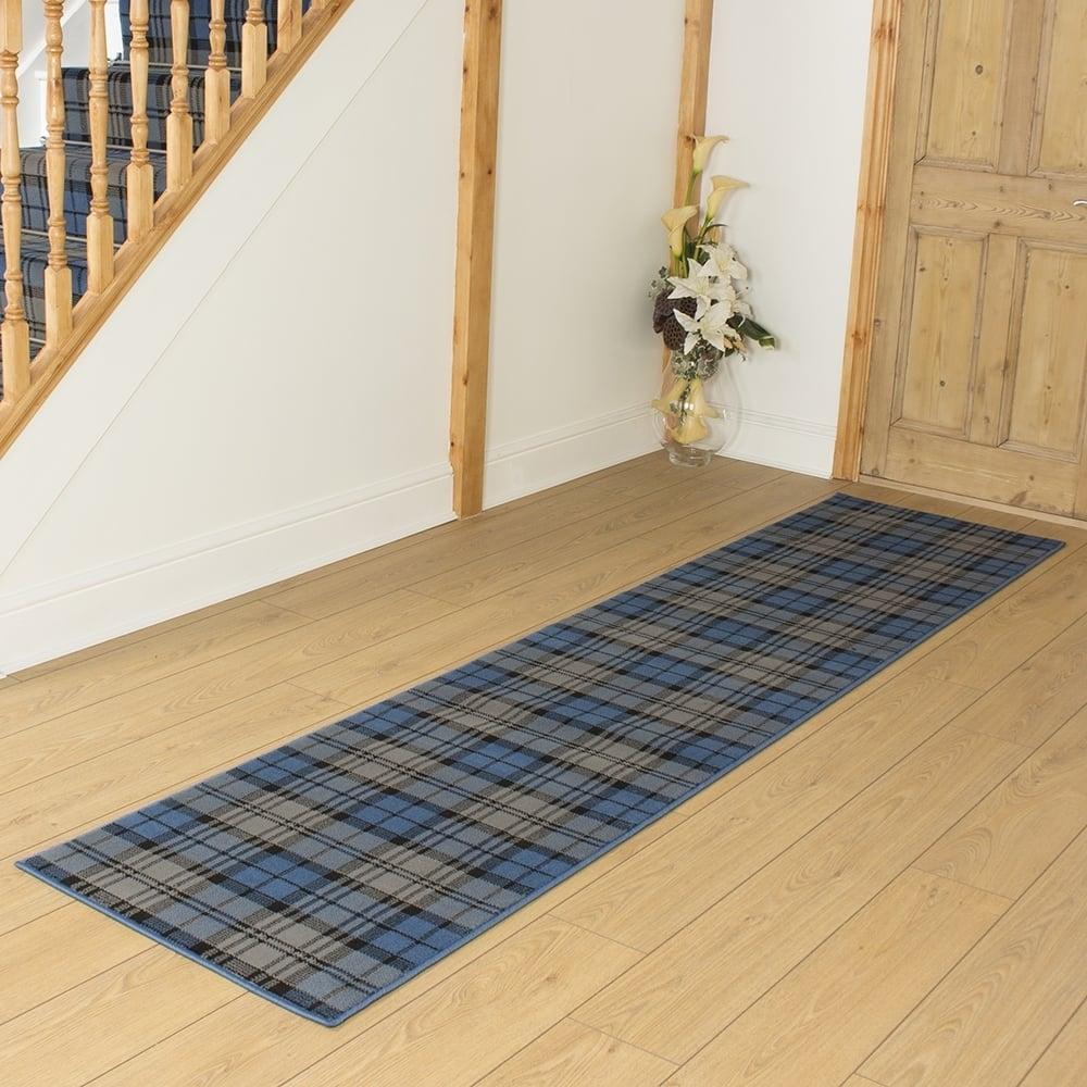 tartan blue remnant length 120cm 3ft 11in x width 70cm 2ft 4in. Black Bedroom Furniture Sets. Home Design Ideas
