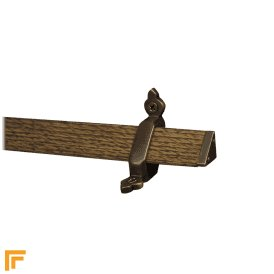 Tudor Antique Bronze Dark Wood Stair Rod