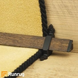Tudor Black Dark Wood Stair Rod