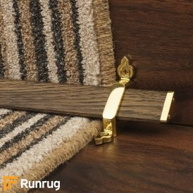 Tudor Brass Dark Wood Stair Rod