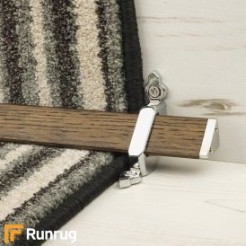 Tudor Chrome Dark Wood Stair Rod