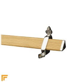 Tudor Chrome Light Wood Stair Rod