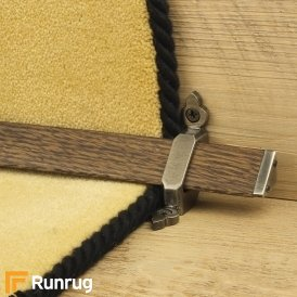 Tudor Pewter Dark Wood Stair Rod