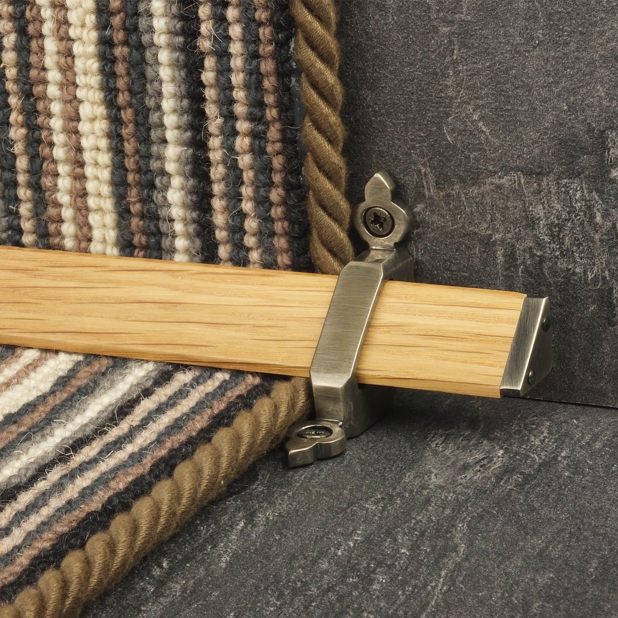 Tudor Pewter Light Wood Stair Rod