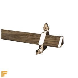 Tudor Polished Nickel Dark Wood Stair Rod