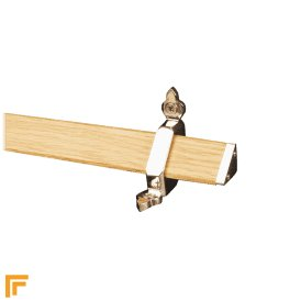 Tudor Polished Nickel Light Wood Stair Rod