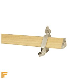 Tudor Satin Nickel Light Wood Stair Rod