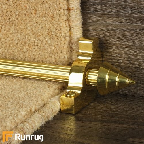 Vision Brass Arrow Reeded Stair Rod