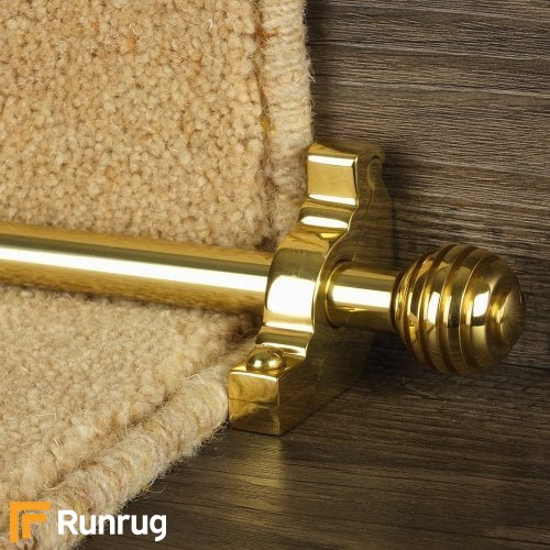 Vision Brass Sphere Plain Stair Rod