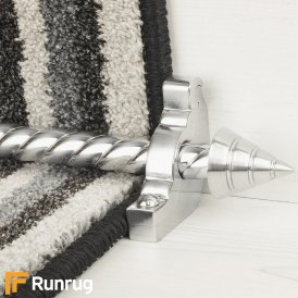 Vision Brushed Chrome Arrow Spiral Stair Rod