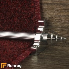 Vision Chrome Arrow Reeded Stair Rod