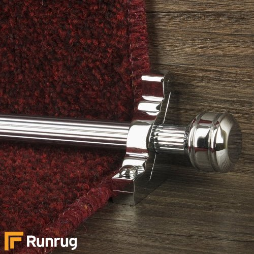 Vision Chrome Piston Reeded Stair Rod