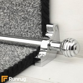Vision Chrome Sphere Plain Stair Rod
