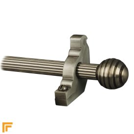 Vision Pewter Sphere Reeded Stair Rod