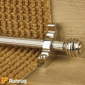 Vision Polished Nickel Sphere Reeded Stair Rod