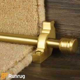Vision Satin Brass Piston Plain Stair Rod