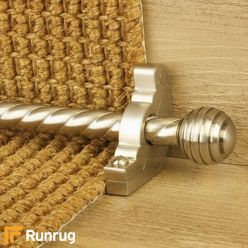 Vision Satin Nickel Sphere Spiral Stair Rod