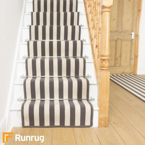 Wool Blocstripe Sable Bone 1852 Stair Runners